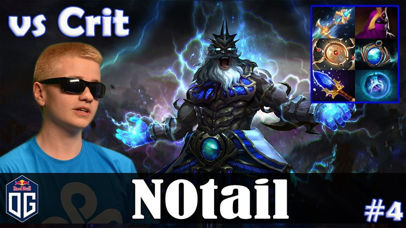 N0tail - Zeus MID | vs Crit (Earthshaker) | Dota 2 Pro MMR Gameplay 4