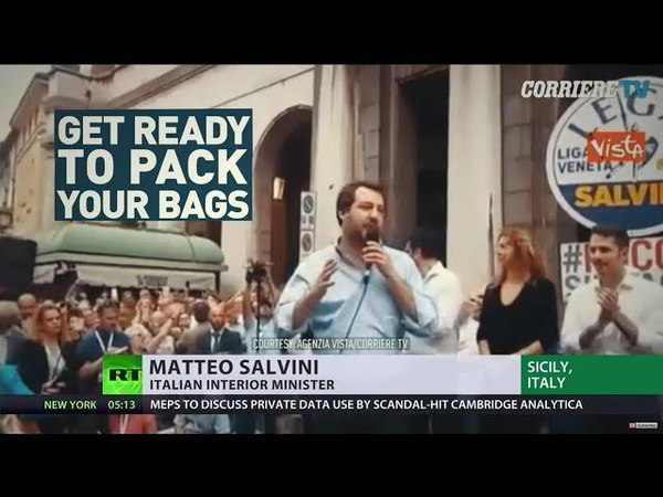 'Pack your bags, illegals': New Italian Euroskeptic govt sends clear message