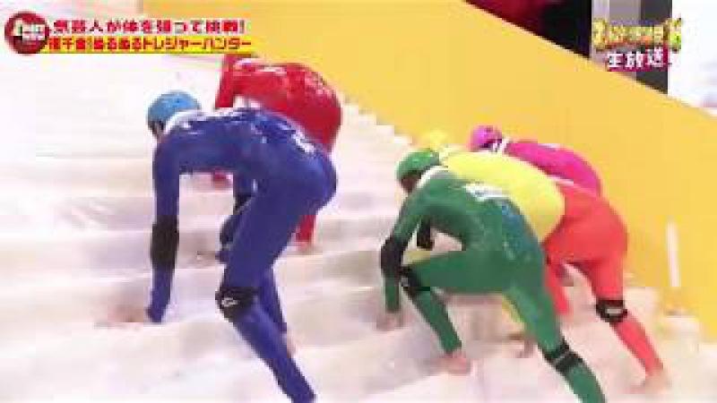 Угарное японское шоу. Ржачный этап - царь горы с вагинальной смазкой