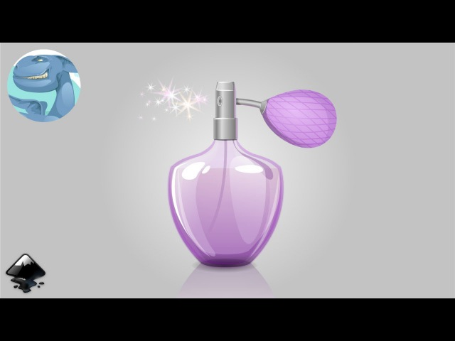 How to draw a bottle of perfume in Inkscape