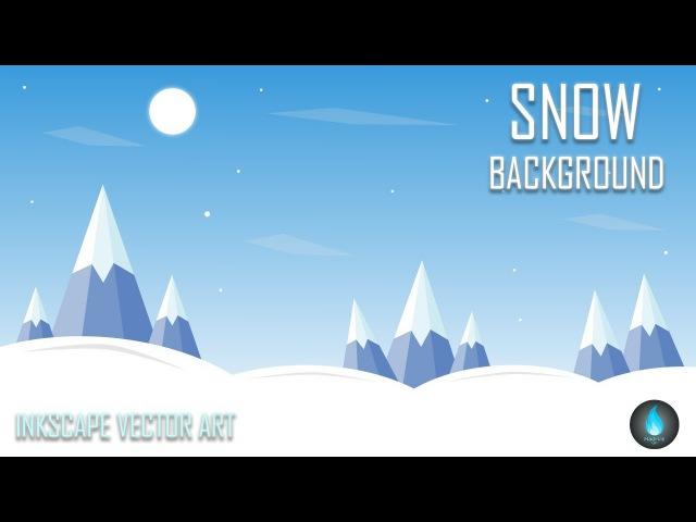 Snow Background | Inkscape Tutorial | MadFireOn