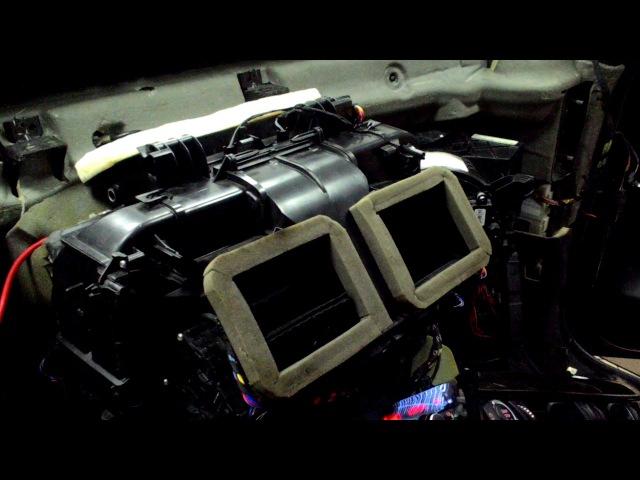 BMW X6 F16 замена привода воздушной заслонки обдува в центральной консоли
