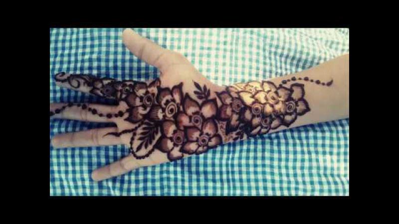 Flower gulf henna mehndi design 1