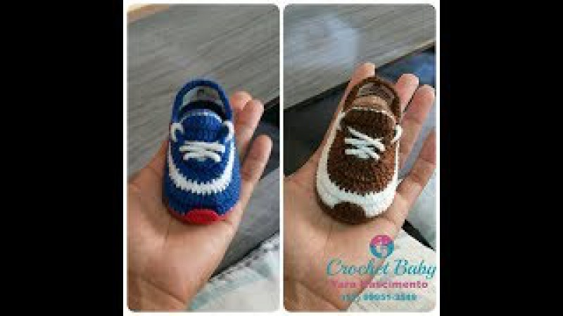 Dica para Sapatinho ICARO de crochê - Tamanho 09 cm - Crochet Baby Yara Nascimento