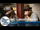 Maroon 5 Busks in NYC Subway in Disguise