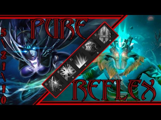 Dota 2 - Кастомные игры:Pure Reflex - Phantom Assassin - Затащили нуба (Live)