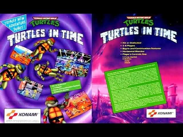 Teenage Mutant Ninja Turtles: Turtles in Time (ARCADE) - All Turtles Gameplay