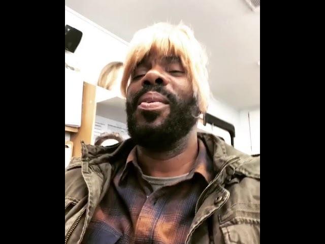 Colman Domingo on set with Kim Dickens (FTWD) Mar 20, 2018