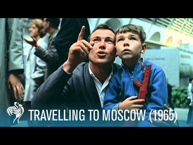 Travelling to Moscow ft. Sir Laurence Olivier, Robert Lang, More (1965) | British Pathé