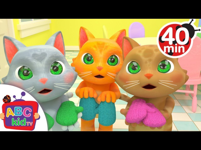 Three Little Kittens | More Nursery Rhymes Kids Songs - ABCkidTV