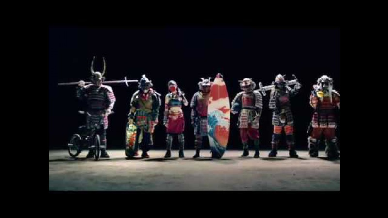 Japan TV CM - 7 Nissin Samurai Crazy Stunt Extreme Sports Kung Fu!
