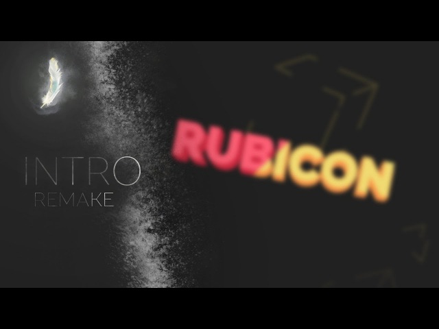 [INTRO] Rubicon's 2D minimalistic YouTube Intro - After effects 60 fps (Remake FlowTuts)