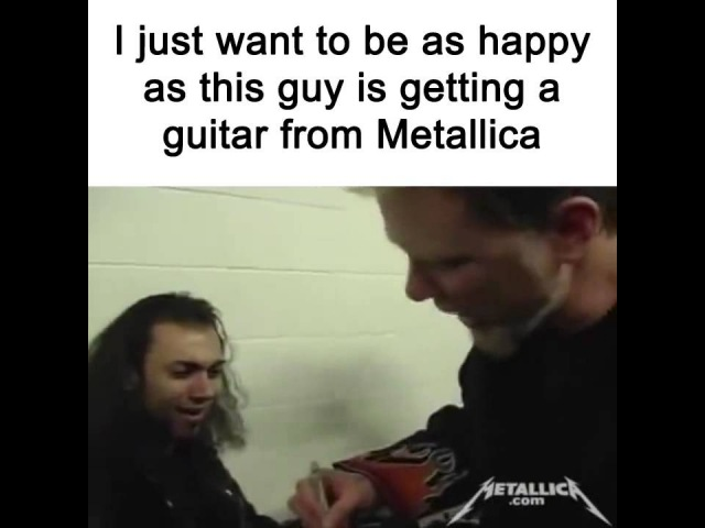 James Hetfield Gives Guitar