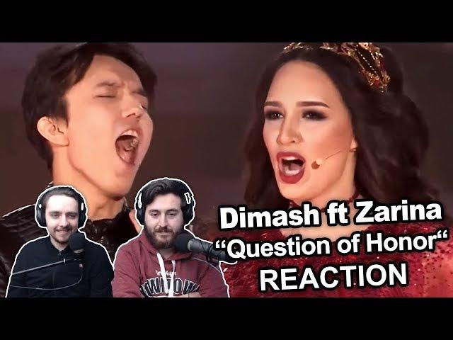 Dimash Kudaibergen ft Zarina Altynbayeva Question of Honour Reaction