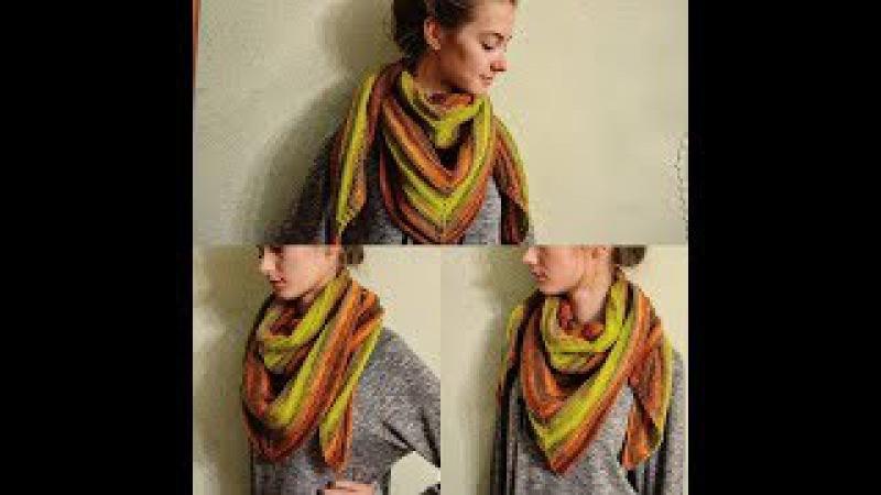 Бактус (шарф, косынка, платок) спицами - это просто!Bacchus (scarf, kerchief) knitting