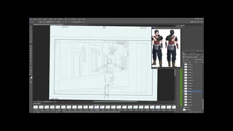 Adobe Photoshop Animation com cenário 3D