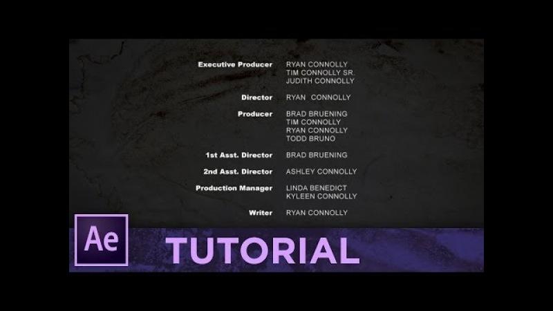 TITOLI di CODA: Facile e Veloce! • Adobe After Effects Tutorial