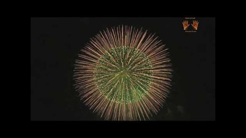 Супер салют в японии на Новый год 2018,Super Fireworks in Japan for the New Year 2018