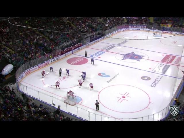 Моменты из матчей КХЛ сезона 16/17 • Гол. 3:2. Армейцы здорово разыграли выигранное вбрасывание 27.08