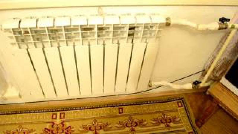Биметаллический радиатор плохо греет не прогревается, решение удлинитель прото...