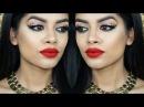 Holiday Glam Makeup | Glitter Liner Red Lips w/ GlambyRuna