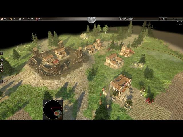 0 A.D. Alpha 22, Map 'Gallic Fields (3)', 2v1: HOP sidh123 vs Valerianis (Newbie Game)