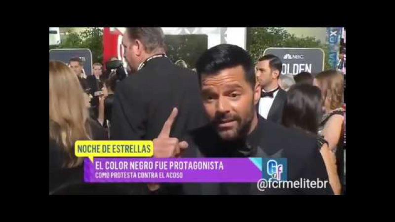 Ricky Martin protesta contra el acoso y la discriminación en los Globos de Oro