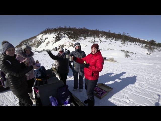 Магадан-Медвежка-Птичий, 11 человек на 3-х на снегоходах РМ Тайга Патруль.