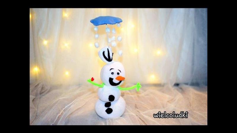 DIY - BAŁWANEK OLAF ZE SKARPETKI SOCK - SNOWMAN OLAF