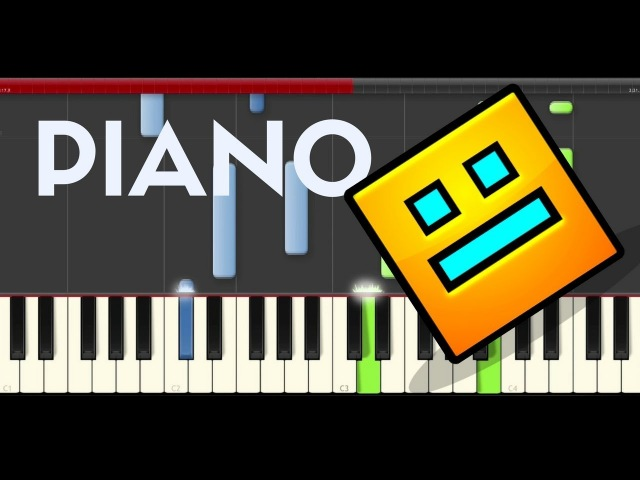 Geometry Dash Stay Inside Me piano midi tutorial sheet partitura practice level cover for remix