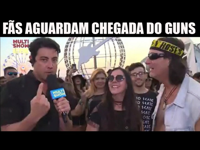 FÃS AGUARDAM A CHEGADA DO GUNS N' ROSES NO ROCK IN RIO 2017