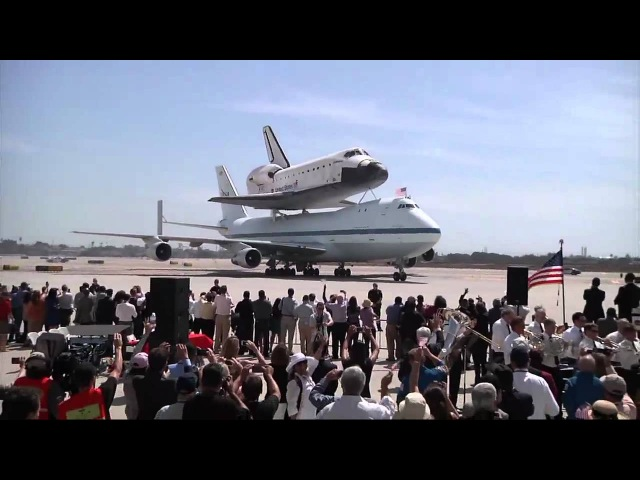 Space Shuttle Endeavour Receives Warm Welcome at Los Angeles International Airport