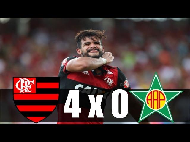 Flamengo 4 x 0 Portuguesa-RJ ~ Gols da Partida ~ Cariocão 2018