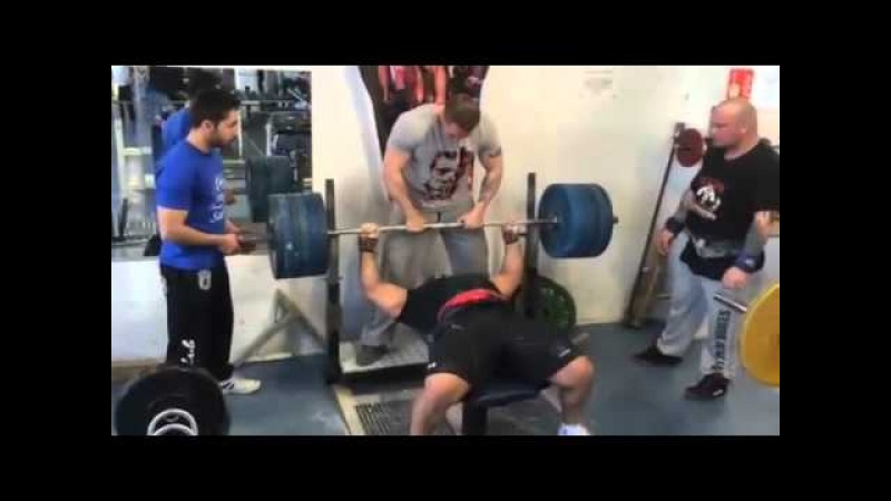 Zahir Khudayarov 260 x 1 Bench Press
