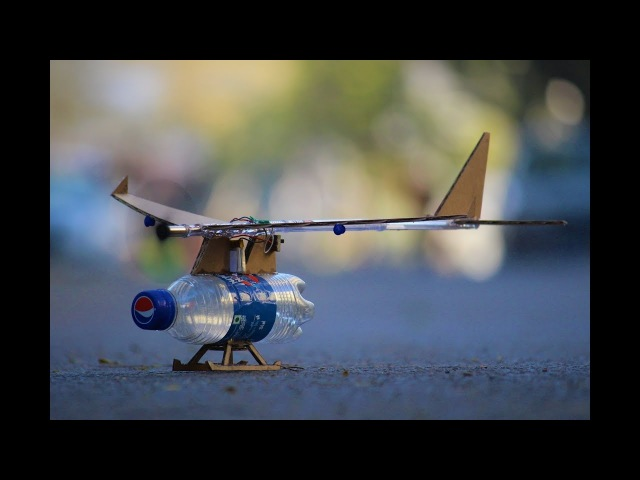 How To Make a Airplane - Flying Bottle Airplane