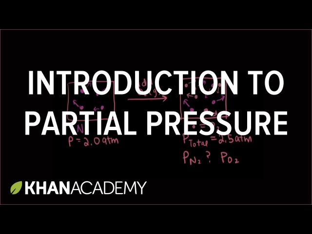 Introduction to partial pressure | Gases and kinetic molecular theory | Chemistry | Khan Academy