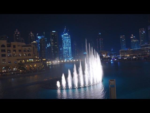 Dubai Mall fountain - Фонтан в Дубай - Sony 6500 sigma 18-35 Slog 4k نافورة دبي مول الراقصة بدقة