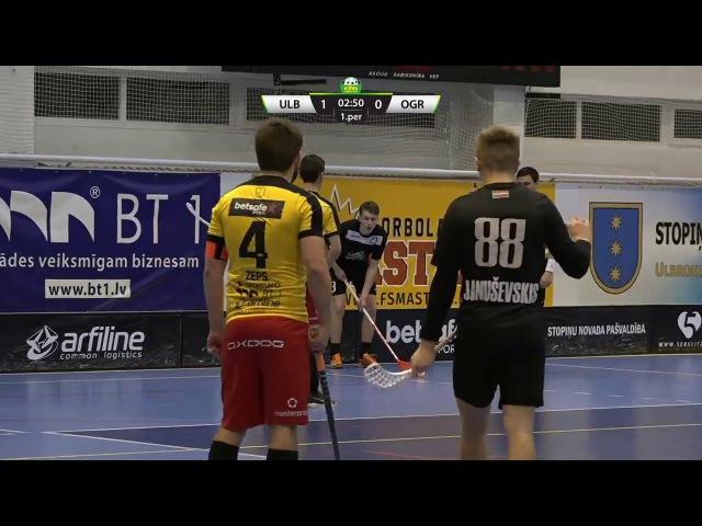 ELVI florbola līga: Betsafe/Ulbroka - FK Ogres vilki (25.11.2017)