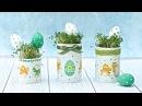 Wielkanocne puszki decoupage na rzeżuchę DIY tutuorial