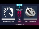 Liquid vs VG RU #3 (bo3) ESL One Katowice 2018 Major PlayOff 24.02.2018