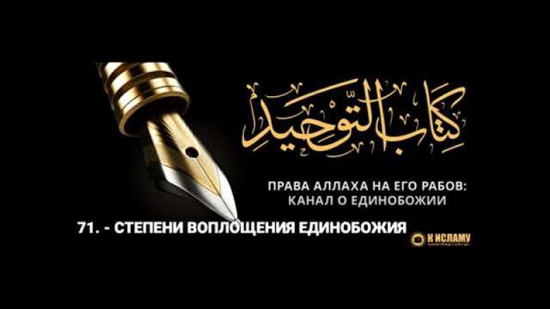 Ислам| 71. Степени воплощения единобожия | Ринат Абу Мухаммад.
