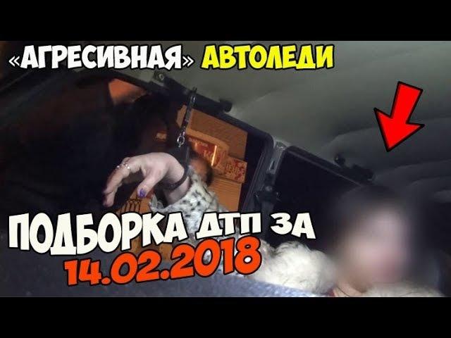 Подборка ДТП 14.02.2018 [агресивная автоледи]