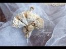 Винтажная оригинальная брошь зонт своими руками брошь из льна и кружева мастер класс