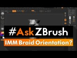 #AskZBrush When creating an IMM Braid Brush the Braids are not following the stroke