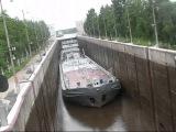Баржа ВОЛЖСКАЯ-6, шлюз №1 Волго-Балтийской водной системы