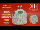 TUTORIAL PORTAMONETE UNCINETTO CLIC CLAC SWING - CROCHET FACILE ● Katy Handmade