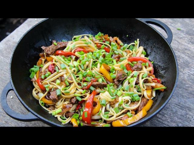 Китайская лапша wok. Как приготовить удон из пшеничной лапши с говядиной