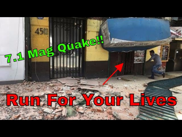 Terrifying Scary New Footage!! Earthquake In Mexico Cause Buildings To Collapse Explode Pure Chaos