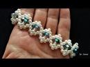 How to make a beaded bracelet .DIY easy pattern