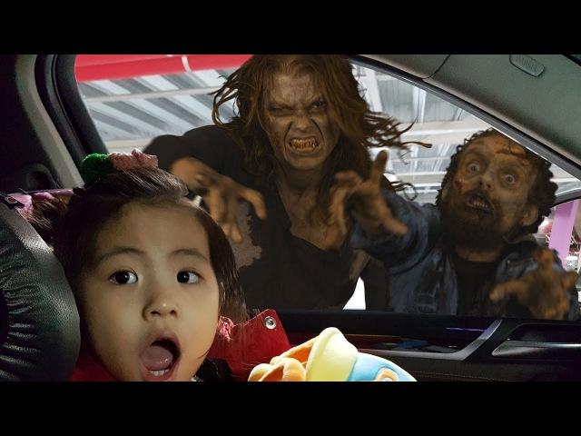 좀비들이 나타났어요 2탄!! 서은이의 너프 좀비 사냥 마트 장난감 가게 뽀로